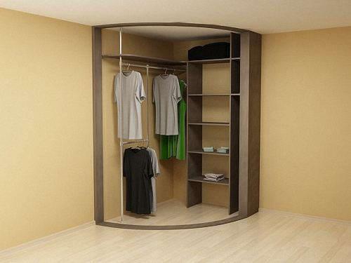 Виды раздвижных систем дверей для радиусных шкафов купе