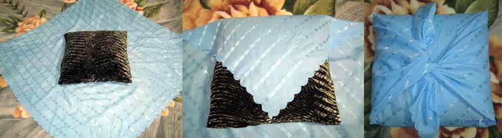 Как сшить подушку без швов 27