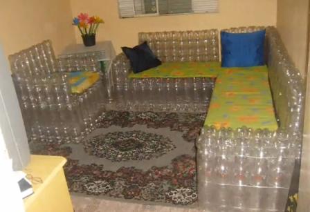 Дачная мебель из бутылок