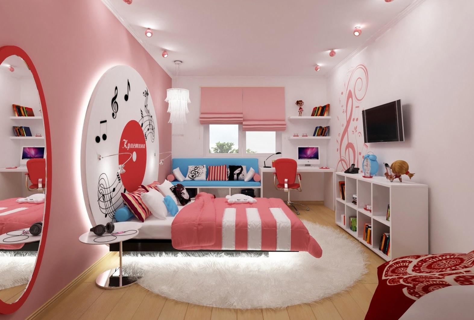 Детская комната для девушек дизайн фото