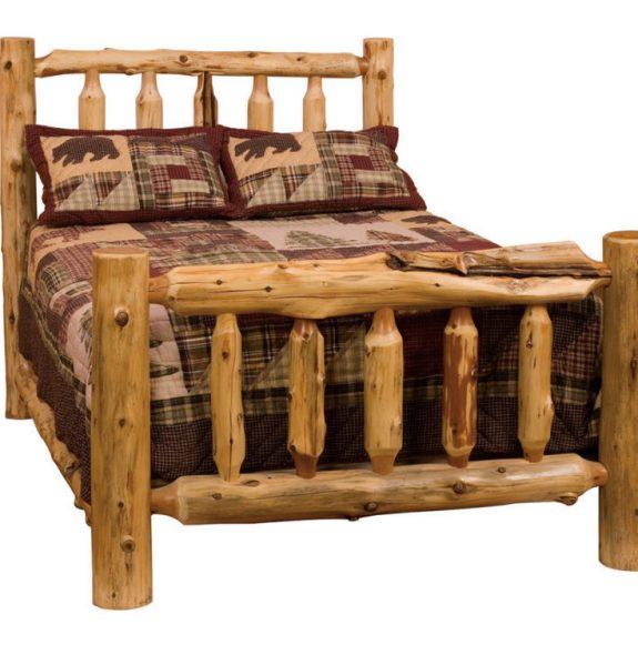 Кровать для интерьера в стиле рустик