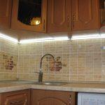 Дополнительная подсветка на кухне своими руками