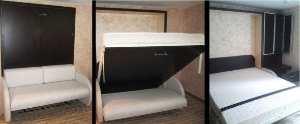 Двухспальная кровать-трансформер