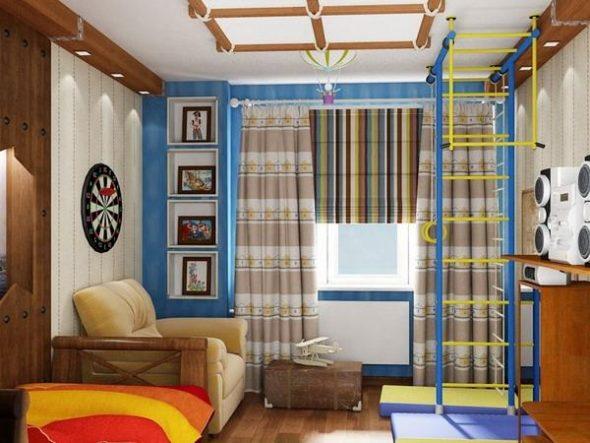 Интересное оформление интерьера в подростковой комнате