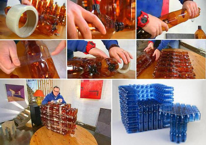 Мастер класс мебель из бутылок своими руками 31