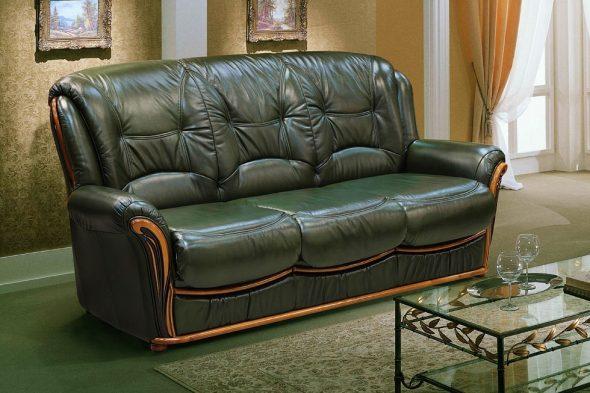 классическая обивка для дивана - кожа