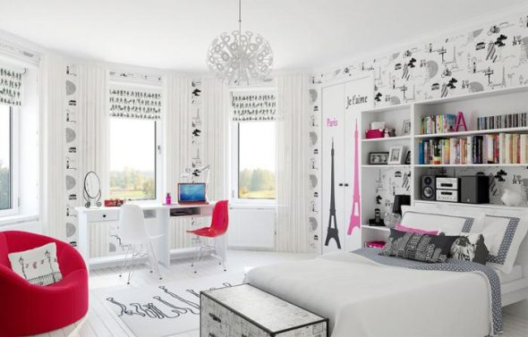 "Комната для девочки подростка ""Париж"""
