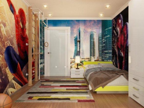 """Комната для подростка с любимым героем """"Человек-Паук"""""""