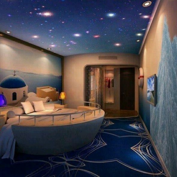 Комната-мечта со звездным небом
