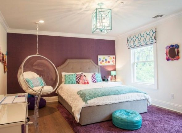 Комната с орнаментами и узорами для девочки