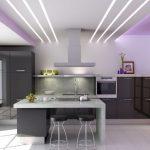 Красивая романтичная подсветка для кухни