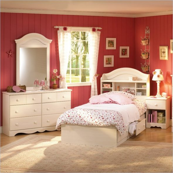 кровать детская для девочки с ящиками для хранения