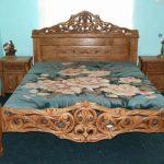 Кровать из дуба ручной работы
