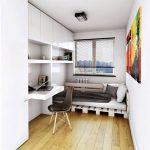 Кровать из поддонов для комнаты в скандинавском стиле