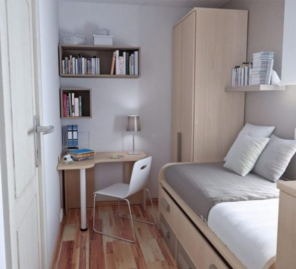 Маленькая и уютная комната с необходимым минимумом