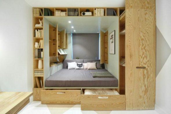 Мебель-трансформер из фанеры для маленькой спальни
