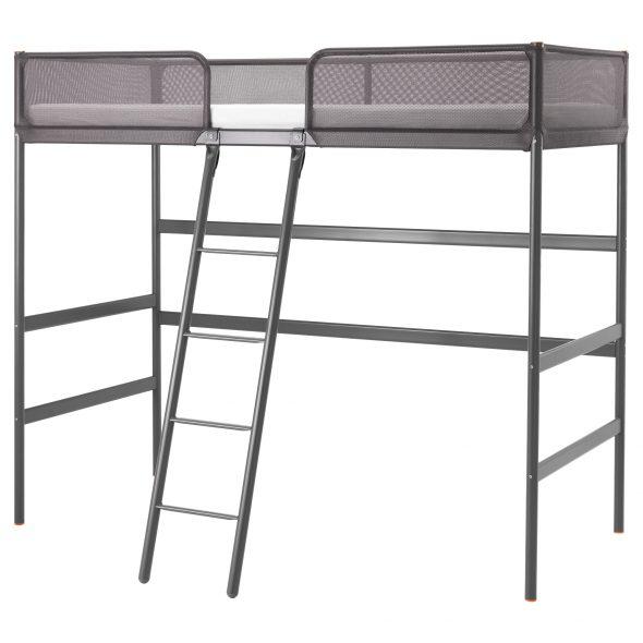 Металлическая кровать чердак Туффинг фирмы Икеа