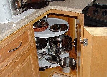 Нижний угловой шкаф на кухню