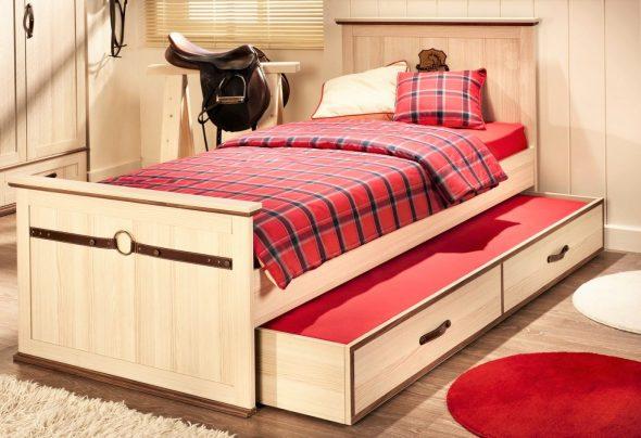 новая детская кровать с ящиками для хранения