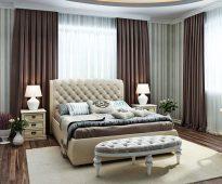 Огромная кровать с мягким изголовьем