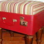 Оригинальный мягкий пуфик из чемодана