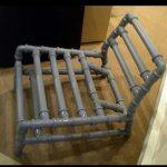 Оригинальный стул из труб своими руками