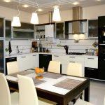 Основное и дополнительное освещение на кухне