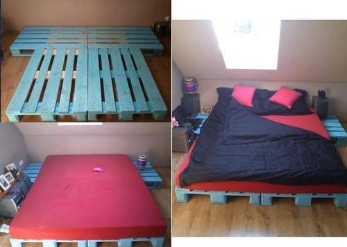 Пошаговая сборка кровати из паллет
