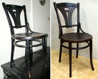 пример реставрации веенского стула