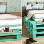 Примеры кроватей из поддонов разной высоты