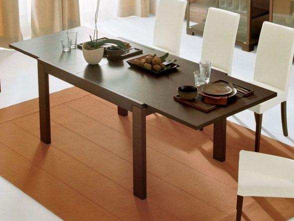 раскладной стол для кухни в интерьере