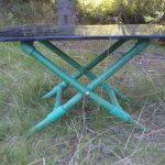 Раскладной столик с каркасом из труб ПВХ