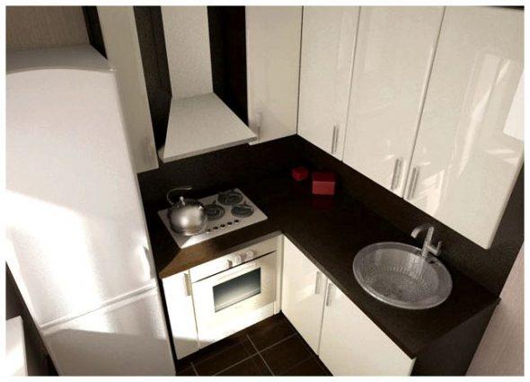 Расположение вблизи плиты и холодильника на совсем маленькой кухне