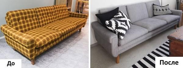 Как перетянуть старый диван своими руками пошаговая