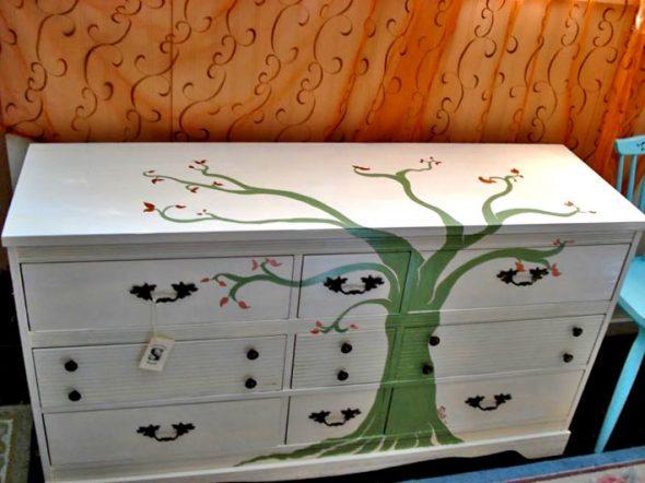 рисунок на мебели