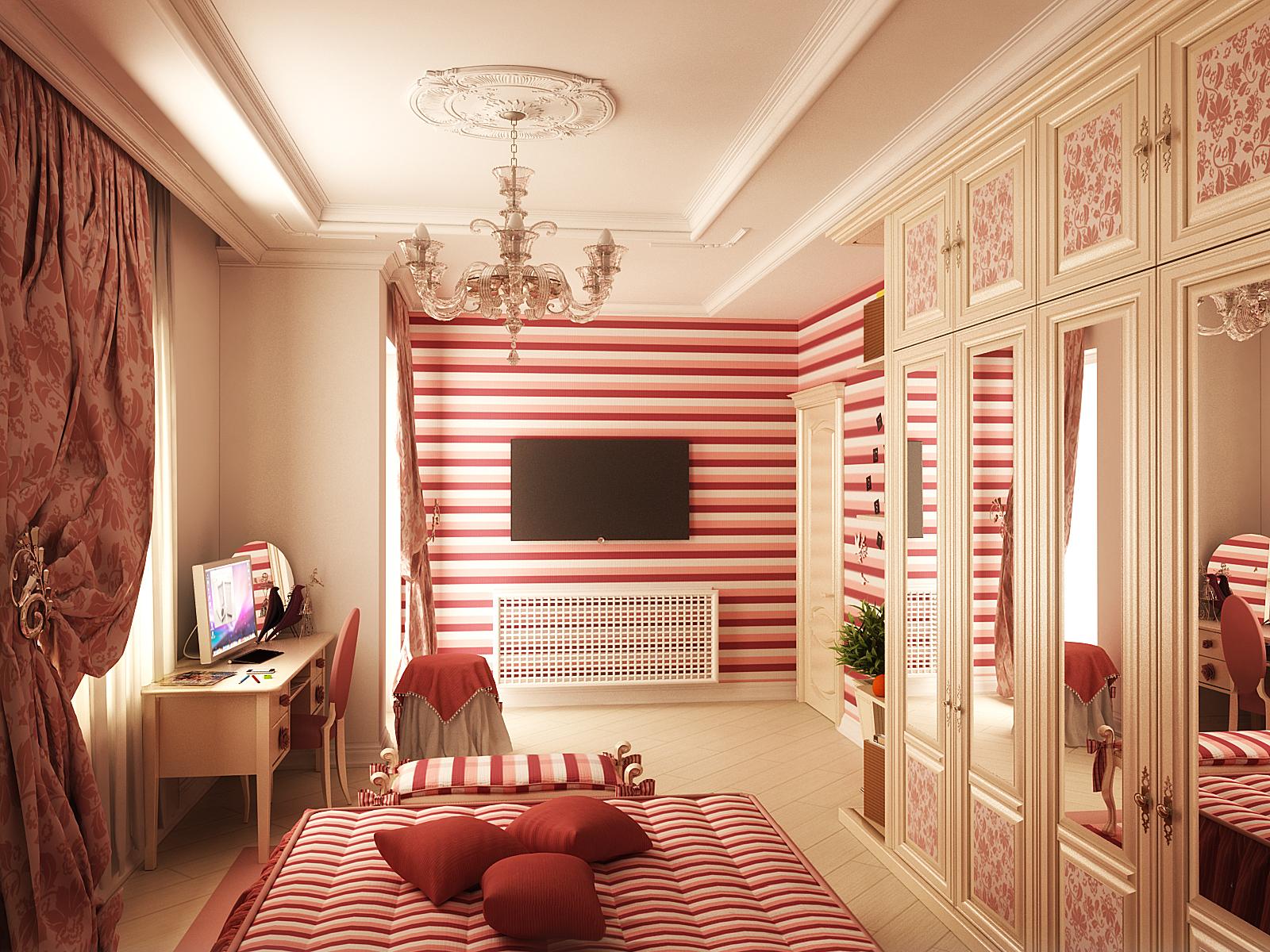 Фото дизайна интерьера комнаты для девочки