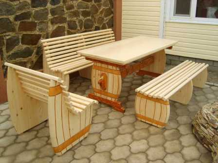 Сделать сам своими руками садовую мебель фото 924
