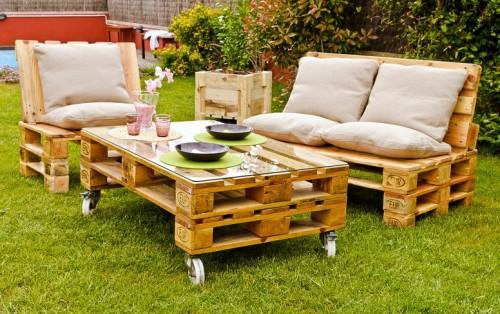 сделать садовую мебель своими руками