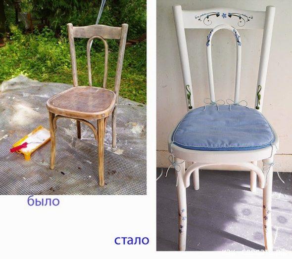сделать старый стул вновь нужним