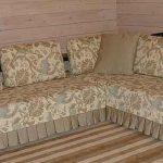 Съемный чехол на диван и подушки своими руками