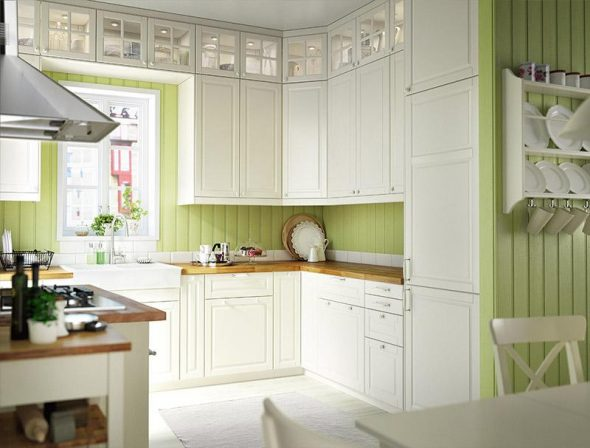 Шикарная белоснежная кухня