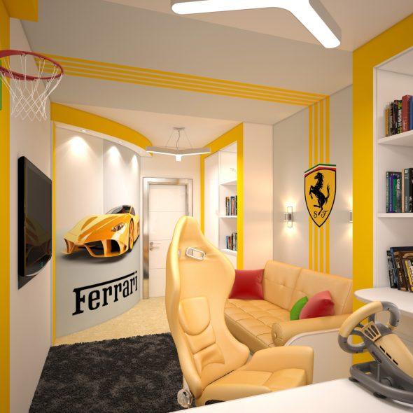 "Шикарная комната для мальчика ""Феррари"""