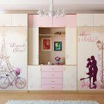 Шкаф-купе для спальни девочки подростка