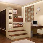 Шкаф с кроватью-подиумом и рабочим столом
