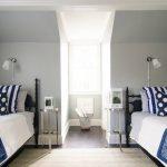Сочетание серого и синего в комнате для мальчиков