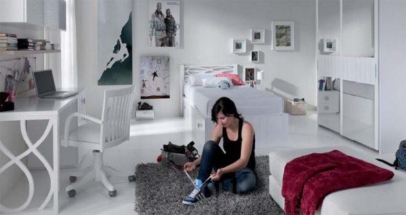 """Спальня для взрослой девушки """"Покорительница вершин"""""""