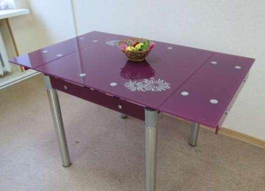 стеклянные раскладные кухонные столы