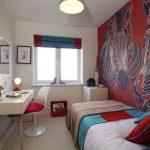 Стена с зебрами для необычной комнаты для девушки