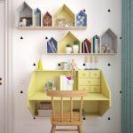 Стол и полки для книг в комнату девочки