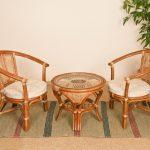 столовая плетеная мебель